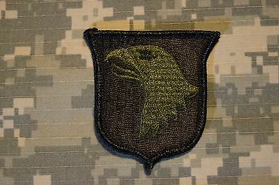 RARE Authentic US Army 101st Airborne Division Green OD BDU Military Patch