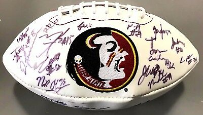 2013 Florida State Seminoles Team Signed Football Kelvin Benjamin