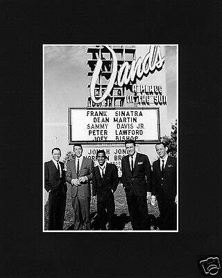 The Rat Pack Sands Frank Sinatra Dean Martin Black Large Matted Photo Picture