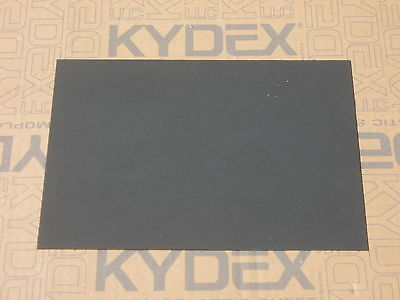 3 mm A3 KYDEX T Sheet 420 mm X 297 mm P-1 Haircell Black, Holster Sheath making