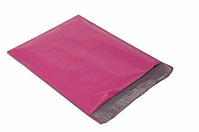 100 14x17 HOT PINK Poly Mailers Shipping Envelopes Couture Boutique Bags