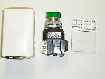 Allen Bradley 800T-16Hgh2Kb6Ax Ser U Illuminated Selector Switch 2 Pos Maint Nib