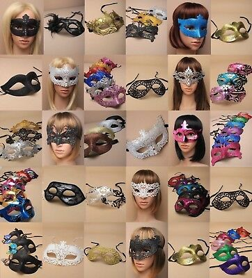 Pack Of Wholesale : Bulk Masquerade / Party Masks : Choose Pack Size : 25-5000