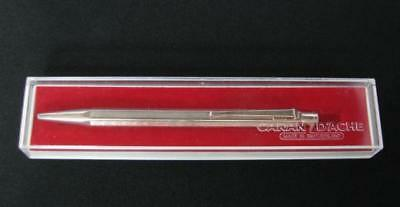 OLD SWISS CARAN D'ACHE SILVER BALL POINT PEN BOX VERY GOOD CONDITION IMKOMETAL x
