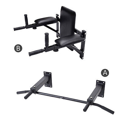 BLACK FRIDAY Wall Mounted Pull Up Chinning Triceps Abs Bars Rack Dip Station