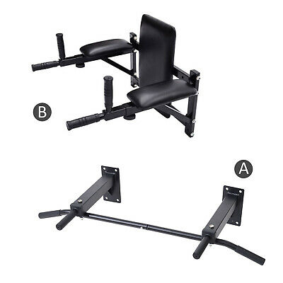 Wall Mounted Pull Up Chinning Triceps Knee Leg Abs Raise Bars Rack Dip Station