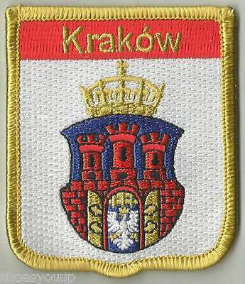 Krakow Flag World Embroidered Patch Badge