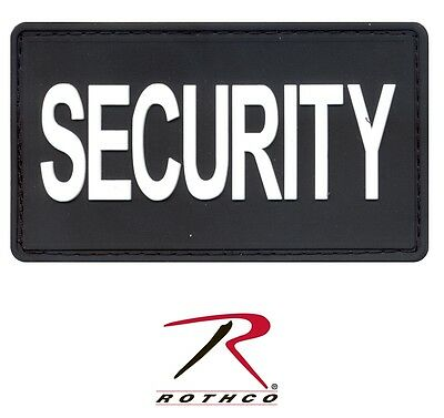 """New Rothco 27785 Black/Silver Security PVC Patch w/ Hook Back 1-7/8"""" X 3-3/8"""""""
