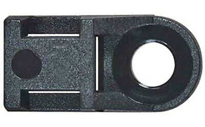 Cable Tie Mounting Eyelet Up to 5mm Cable Ties Nylon Black Base Mount Pk 50