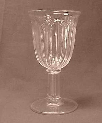 Flint Plain Tulip Early American Pattern Glass Champagne Glass