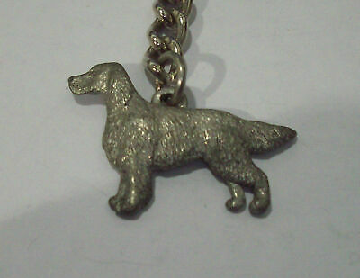 IRISH SETTER KEYCHAIN By HARRIS FINE PEWTER USA MADE No.457A