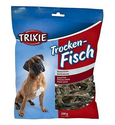 Trixie Trocken Fisch Dry Fish Sprats Dog Puppy Treat Dried Fish Sprat High Omega
