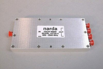 Narda 4372A-4 Power Splitter / Combiner 4-Way SMA Female Connections - USED