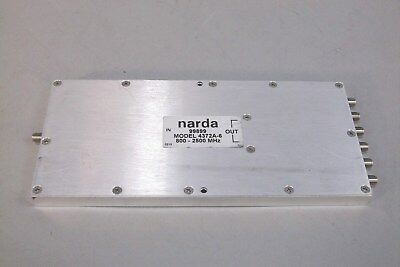 Narda 4372A-6 Power Splitter / Combiner 6-Way SMA Female Connections - USED
