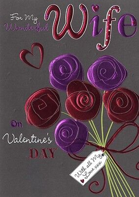 Wife Valentine's Day Card ' I Love You So Much ' Simple Valentine Greeting Cards