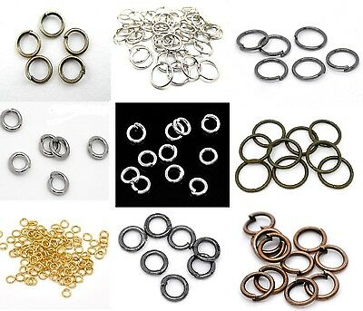 100 Jump Rings Open Round Gold Silver Bronze Copper Gun Metal Findings Jewellery