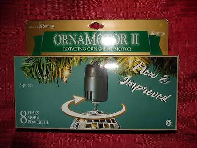 NEW 3 ROMAN Ornamotor II 8 times more powerful IMPROVED rotates ornaments UL