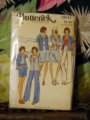 70s Butterick casual seperates Pattern 3641 10/32.5 bust