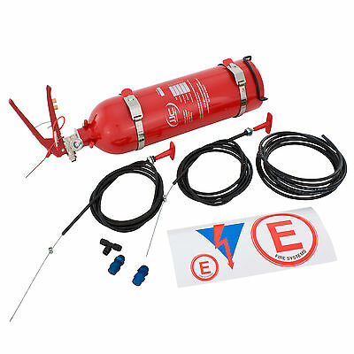 JJC 2.25 Ltr Plumbed In Mechanical Fire Extinguisher System MSA Race Rally AFFF