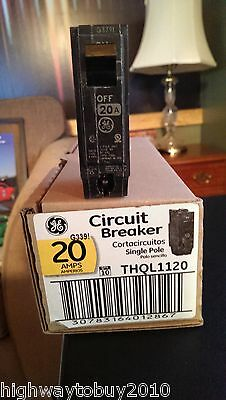 (50) new GE THQL1120 20A 20 Amp Single Pole Circuit Breakers