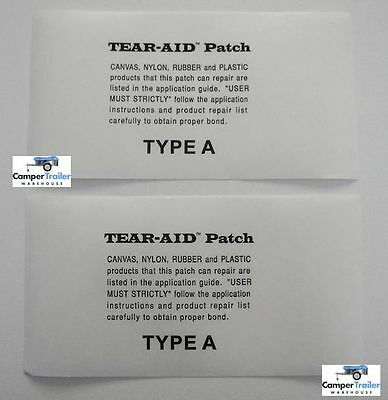 2 x TEAR AID Fabric Repair Patches -  Kitesurf, Windsurf, Windsurfing, Sail etc