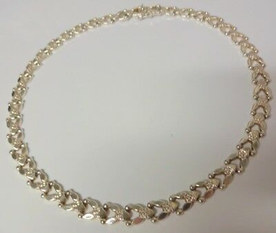 Vintage Italy Wide Heavy Sterling Silver 925 Chain Fine Fancy Pattern Necklace