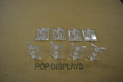 Acrylic Plastic Hinges Clear Acryl-Hinge Set Of 8    -   Ch8