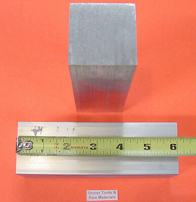 "2 pieces 1-3/4""x 1-3/4"" ALUMINUM SQUARE 6061 FLAT BAR 6"" LONG SOLID Mill Stock"