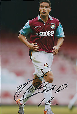 Pablo BARRERA SIGNED COA Autograph 12x8 Photo AFTAL West Ham United Genuine