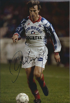 David GINOLA SIGNED COA Autograph 12x8 Photo AFTAL PARIS Saint - Germain RARE