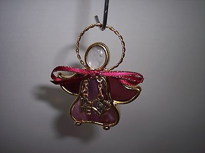 "Stained Glass Charmers,Suncatcher or Stands on Feet, 3 T""Love & Flower in Heart"""