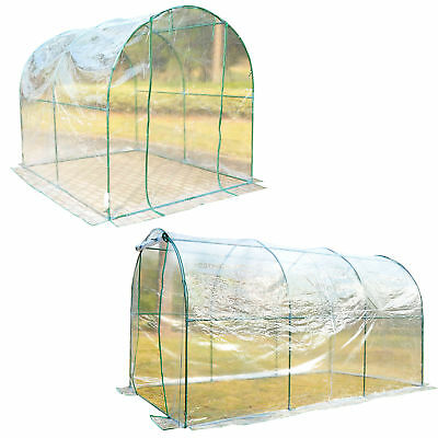 Transparent Polytunnel Greenhouse Poly Tunnel Green House Steel Frame PVC Cover
