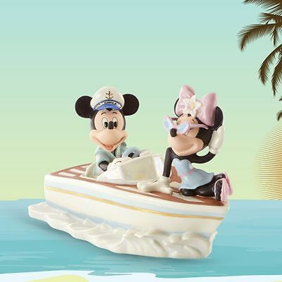 LENOX CRUISING the WAVES with MINNIE and MICKEY Disney Boat NEW in BOX w/COA