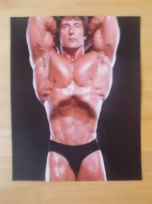 Mr Olympia Bodybuilder FRANK ZANE muscle bodybuilding 8 X 10 VACUUM POSE photo