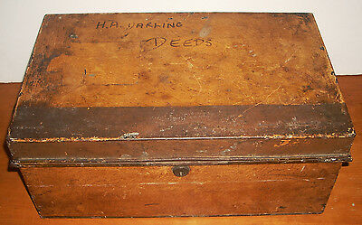Large Antique Victorian 1888 Chubb & Sons Strong Box London England