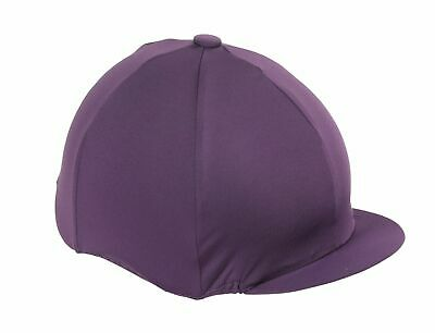Horse Riding Hat Cover - Purple - Stretch -  One Size  by SHIRES