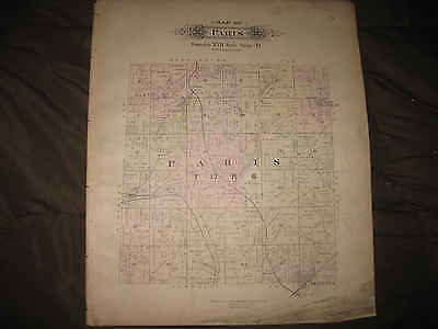 ANTIQUE 1896 WASHINGTON PARIS TOWNSHIP MINERVA ALLIANCE STARK COUNTY OHIO MAP NR