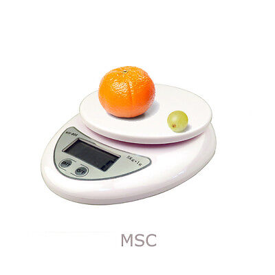 Digital LCD Electornic Precise Kitchen Postal Weight Weighing Scales Upto 5Kg UK