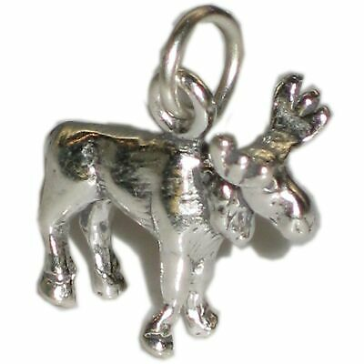 Elk sterling silver charm .925 x 1 Elks and Moose charms SSSC900
