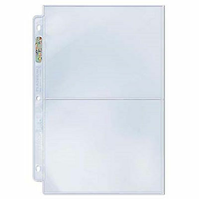 Ultra Pro Platinum 2 Two Pocket Pages 100 count