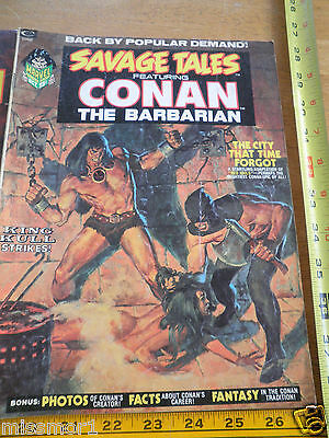 Savage Tales featuring Conan the Barbarian 1970's #2 VG-F magazine BW Smith