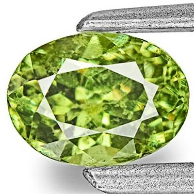 0.75-Carat Vivid Neon Green Eye-Clean Demantoid Garnet 5.94 x 4.39 x 3.54 mm