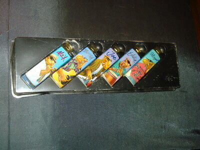 Set Of Five Different Camel Club Lighters MIB
