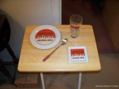 1 RED PIECE SET OF CHOCOLAT DELESPAUL-HAVEZ SET BY THE CHOCOLATE POTTERYBARN SET