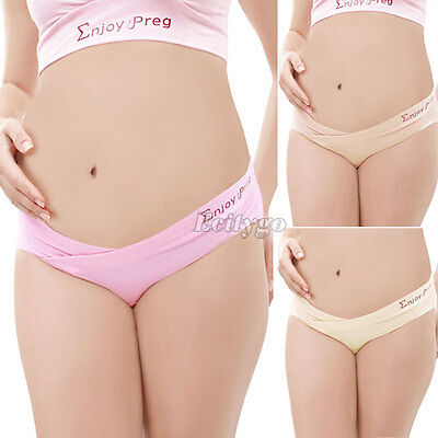 New Comfy Maternity Pregnancy Low Rise Knickers Briefs Underpants Pants