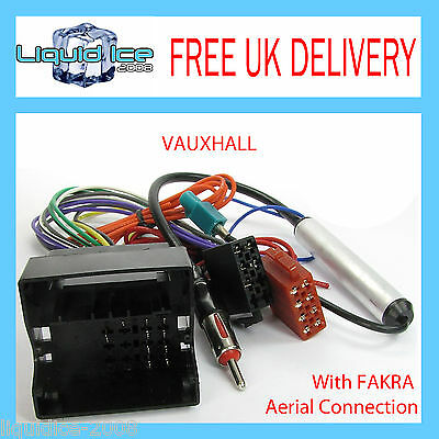 Vauxhall Opel Combo 2004 Onwards Iso Lead Harness With Fakra Aerial Adaptor