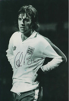 Stan BOWLES Signed 12x8 Photo AFTAL COA Autograph Manchester City ENGLAND RARE