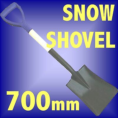 Mini Snow Shovel 700mm square mouth spade lightweight car boot camping steel