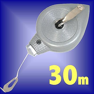30m METAL CHALK LINE PLUMB BOB chalkline level marking