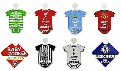 OFFICIAL FOOTBALL CLUB - BABY ON BOARD SIGN - Car Hang Up Accessory (New Kit)